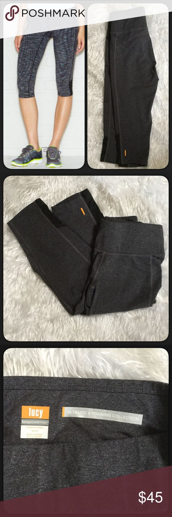 "🆕Lucy Ultimate X-Training Capri NWOT NWOT charcoal gray Lucy Ultimate X-Training Capris. Size XS. Inseam approximately 14"" lying flat and not stretched. These are awesome high quality capris, I bought the wrong size, never worn. Lucy Pants Capris"