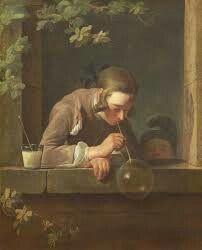 Soap Bubbles; Jean-Baptiste-Siméon Chardin; olio su tela; 1733-1734; LACMA.