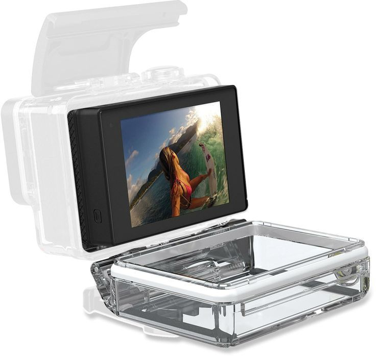 A removable LCD touch screen for GoPro cameras, the HERO3+ LCD Touch BacPac video viewer keeps your camera as small and light as possible. #REIGifts