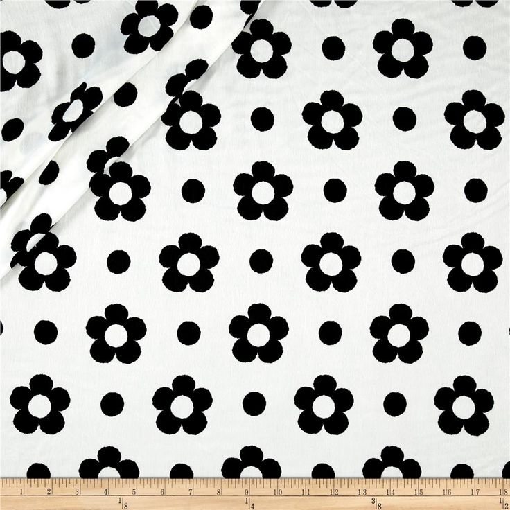 Europa Silky Polyester Satin Shirting Black Spring Flower on White  from @fabricdotcom  This lovely polyester fabric has a more subtle sheen, with the excellent drape of charmeuse. Perfect for flirty dresses, skirts, scarves, and even lingerie like luxurious camisoles, slips, and more!