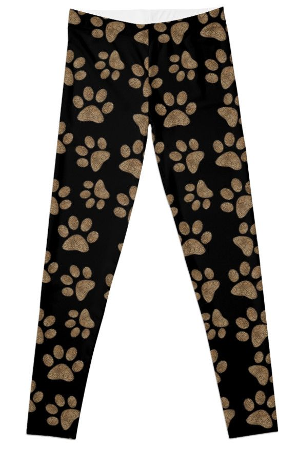 Leopard Spot Paw Prints Leggings