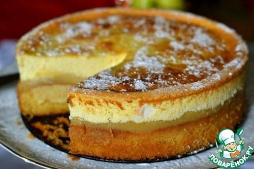 Торт с яблочным пюре Угощайтесь! На столько воздушный, нежный торт получается, что нет слов. Надо попробовать!