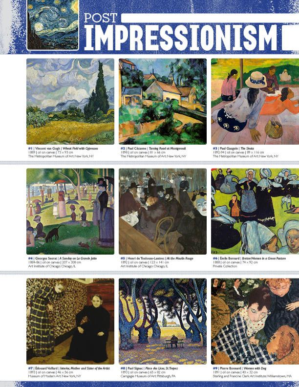 The smARTteacher Resource: POST-IMPRESSIONISM (Movement Binder Notes)