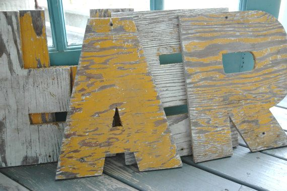 Letter 'A' made of old barn siding  cool rustic look by klickatat, $18.00