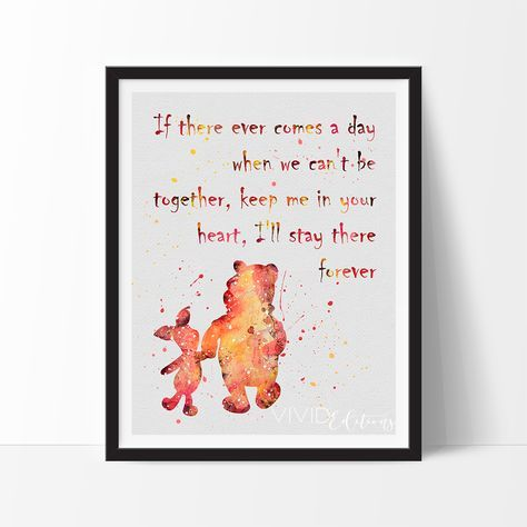 Winnie the Pooh Quote Watercolor Art Print in 2021 ...