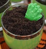 Zombie Hand Pudding Cups recipe - Recipe and Photo by Blogger, Emilie Pianfetti of www.babylovingmama.com