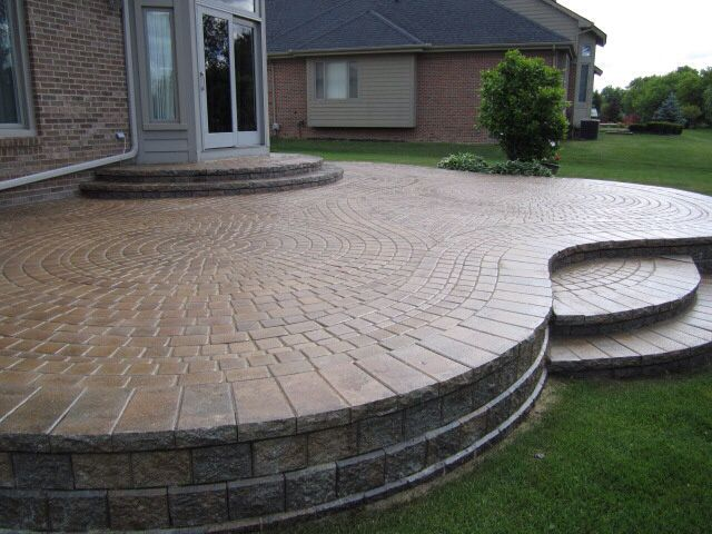 111 best retaining wall images on pinterest | landscaping ideas ... - Raised Concrete Patio Ideas