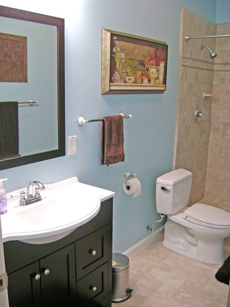 How to finish a basement bathroom diy unfinished - How to finish a basement ...