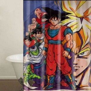 17 best images about rock the dragon on pinterest for Dragon ball z bathroom