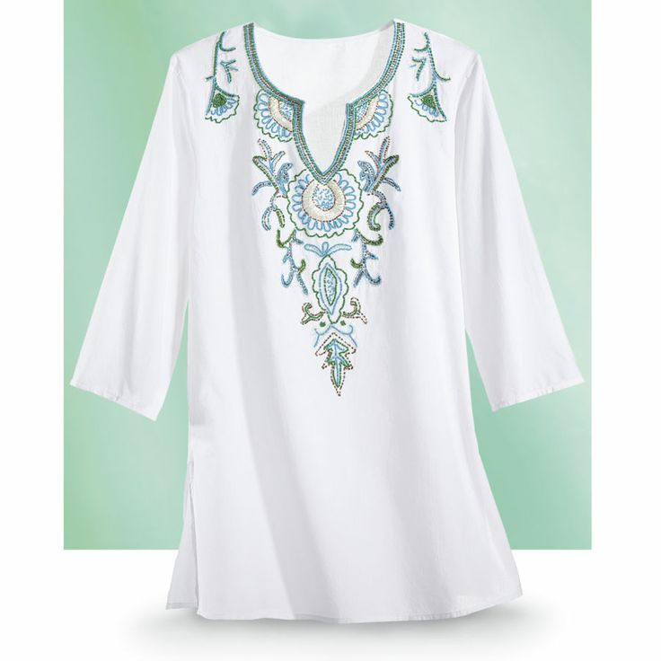 Beaded Kurta Top - New Age, Spiritual Gifts, Yoga, Wicca, Gothic, Reiki, Celtic, Crystal, Tarot at Pyramid Collection
