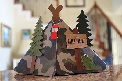 Camping Party Invitations-makes me want to have a campout!  So stink'in cute!