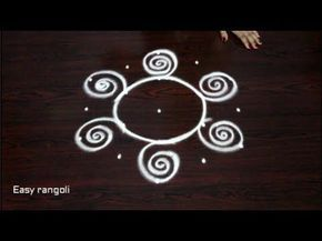 beautiful rangoli kolam designs with 5x3 dots || simple rangoli designs ...