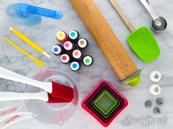 A Beginner's Guide to Cookie Decorating Supplies by Semi Sweet Designs @SemiSweetMike. A comprehensive list of all the tools needed to create custom decorated cookies.