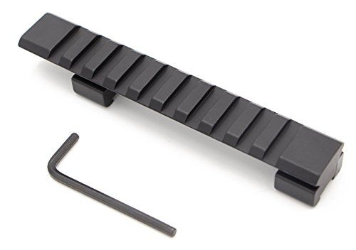 RioRand 11mm Rail Mount Aluminum Alloy Picatinny Weaver Rail with 10 Slots 125mm Length for Hunting Rifle  Air Gun Scope Mount >>> You can get more details by clicking on the image.