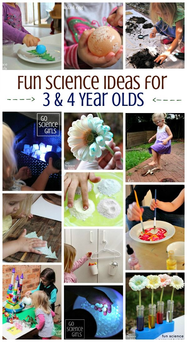 Fun science ideas for 3 and 4 year old kids