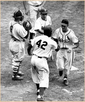 1949 All Star Game.  Jackie Robinson, Stan Musial: Stan the Man will be missed! RIP January 19, 2013