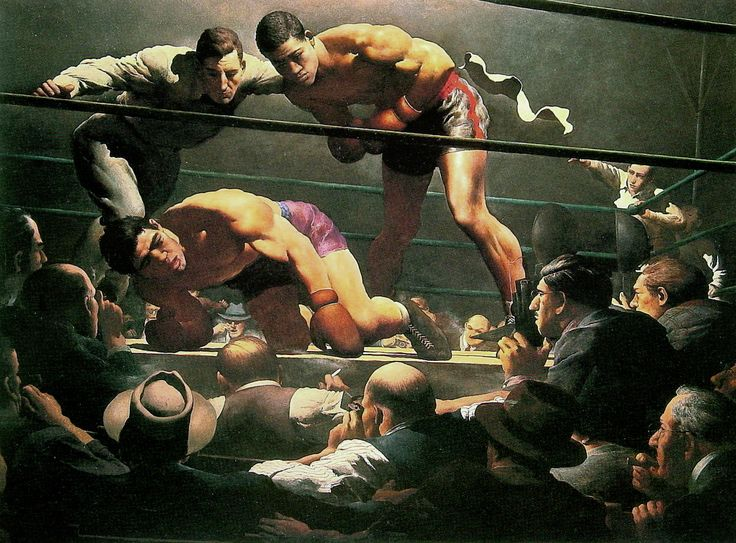 """Robert Riggs (American artist, 1896–1970), """"Fixed Fight from The Saturday Evening Post, July 1951."""""""