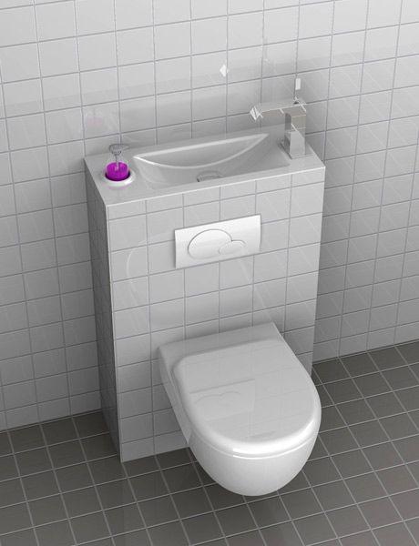 Lavabo et WC combines