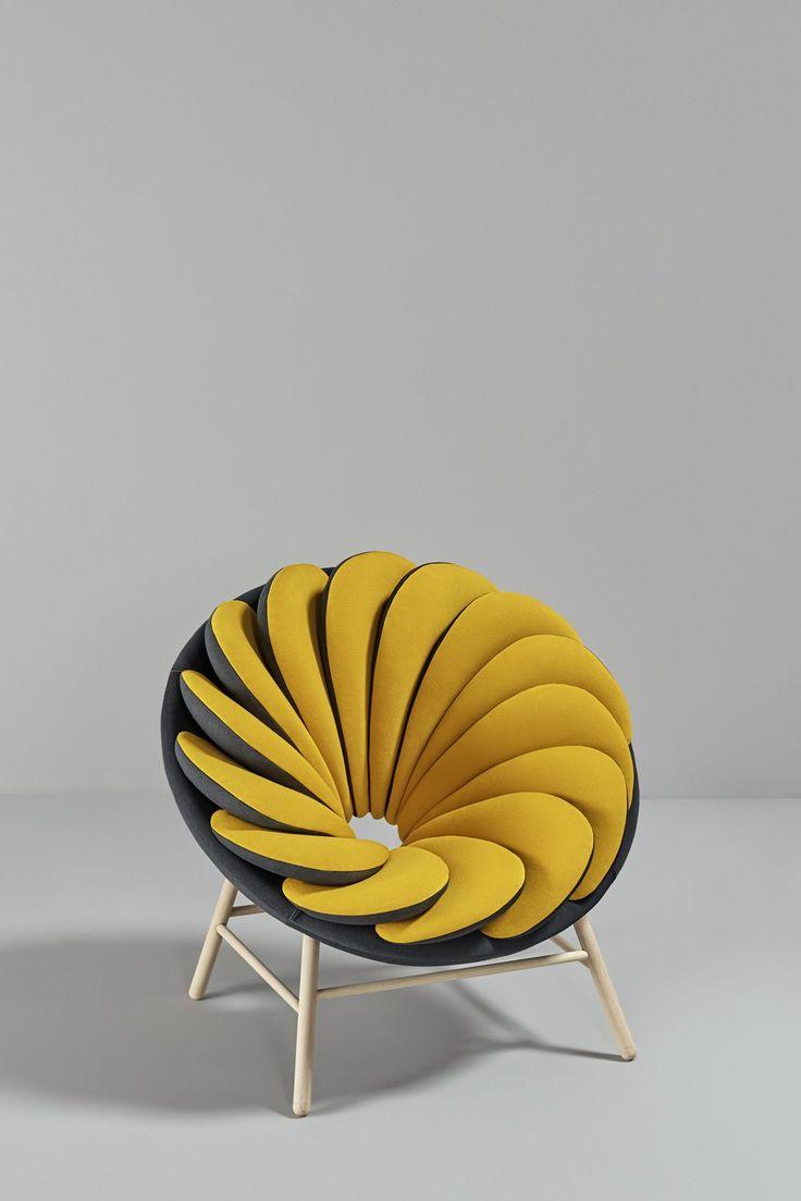 Silla diseño manzana en rodajas