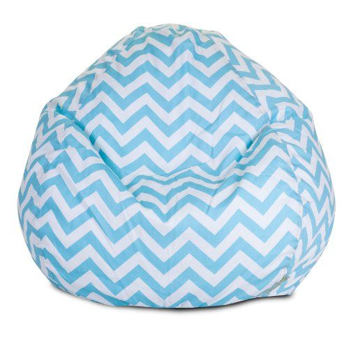 Majestic Home Goods Tiffany Blue Chevron Small Bean Bag