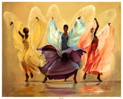 Black Afro angels Drawings | ... african american art articles at blackrefer com art articles