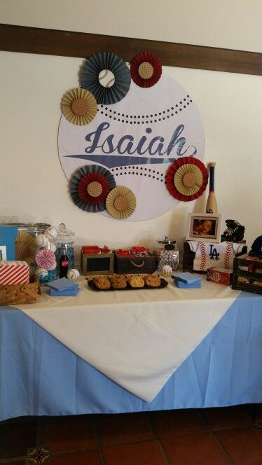 Vintage baseball baby shower idea...