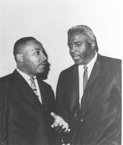 """14-Dr. Martin Luther King, Jr. is shown with Jackie Robinson in the early 1960s. Jackie Robinson's impact in business, politics, and civil rights was a large part of """"Jackie Robinson: An American Journey"""", the Coca-Cola USA-sponsored exhibition at The New York Historical Society. (AP Photo/Coca-Cola USA) Photo: Anonymous, HO / BE"""