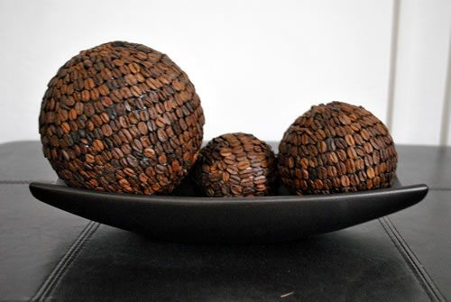 esferas decoradas con granos de café