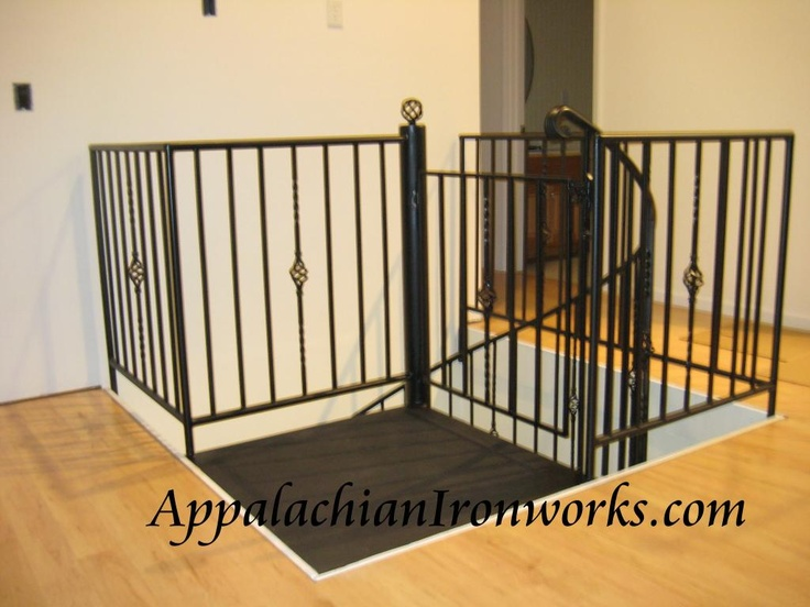 Nice Guardrail Around One Of Our Spiral Staircases From First Floor To Finished  Basement By Appalachian Ironworks