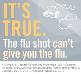 It s true the flu shot can t give you the flu flufacts