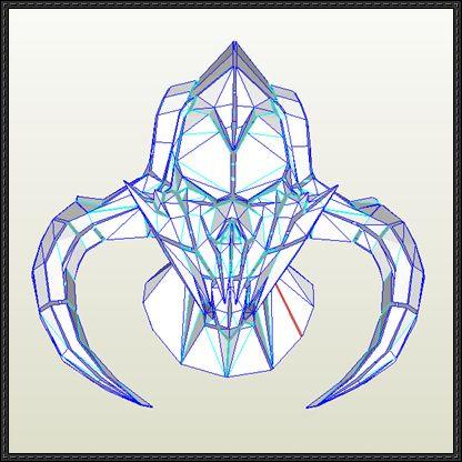 The Elder Scrolls V: Skyrim - Mask of Molag Bal Free Papercraft Download - http://www.papercraftsquare.com/elder-scrolls-v-skyrim-mask-molag-bal-free-papercraft-download.html