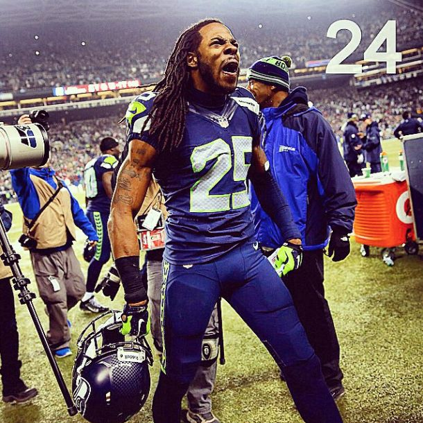 At number 24 in GiveMeSport's 2014 moments is Richard Sherman's infamous outburst after Seattle's NFC Championship win over the San Francisco 49ers! #GMS2014Moments #Seahawks #Seattle #NFL #LegionOfBoom