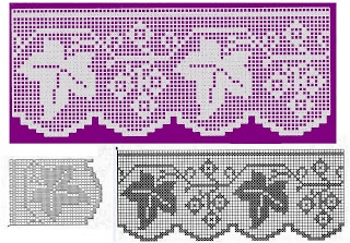 Good assortment of filet crochet borders