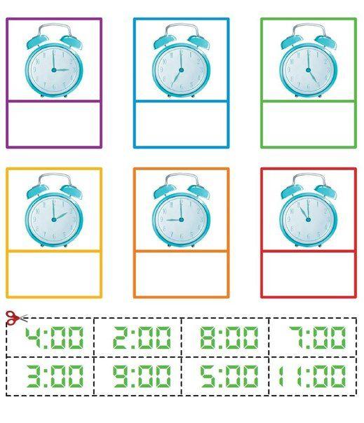 УЧИМСЯ ОПРЕДЕЛЯТЬ ВРЕМЯ НА ЧАСАХ<br>#Время@boltuska<br><br>Учиться определять время для маленьких детей обычно интересно. Однако, соотносить время на циферблате и электронных часах может оказаться для многих детей непростой задачей. Научиться решать ее помогут эти пособия - просто распечатайте ли..