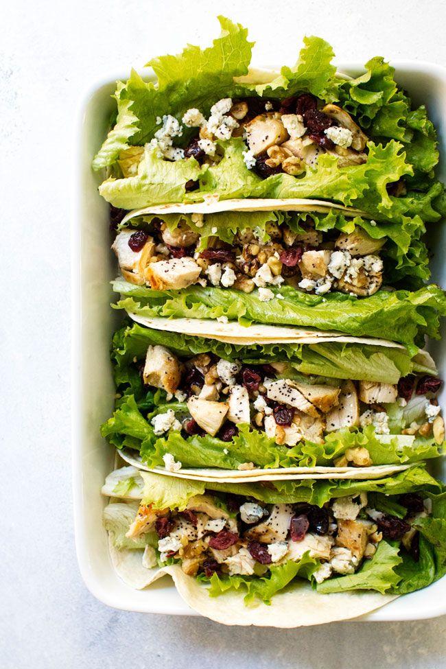 Cranberry Walnut Chicken Wrap With Lemon Poppy Seed Dressing Recipe Chicken Wraps Walnut Chicken Recipes