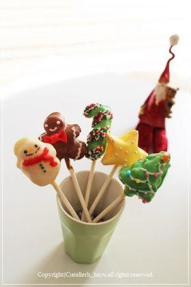 「【クリスマス】チョコパイポップ」hayu   お菓子・パンのレシピや作り方【corecle*コレクル】