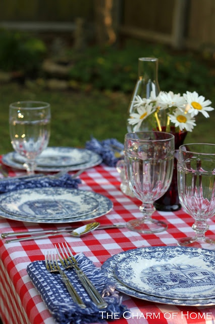 Lovely red white and blue (1) From: The Charm of Home, please visit