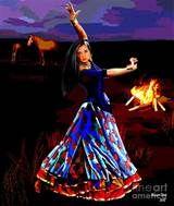 Gypsy Dance Digital Art - Gypsy Dance Fine Art Print