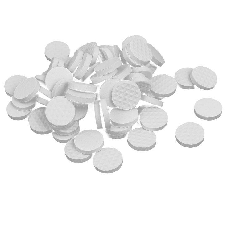 18mm Dia Rubber Self Adhesive Anti-Skid Furniture Protection Pads White 80pcs