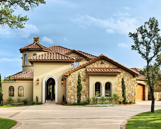 Mediterranean exterior design pictures remodel decor for Mediterranean inspired house