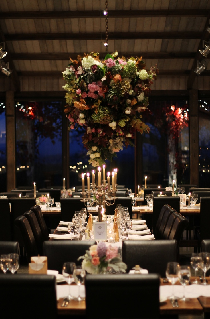 Capote & Peachy Wedding at the beautiful Stones of the Yarra Valley, Victoria, Australia. Amazing floral centrepiece and arrangements by Blooming Brides. #tablesetting #floralcentrepiece #candles #inspiration We can style any occasion, check us out at www.capoteandpeachy.com