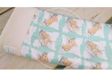 Baby Blanket Funny Bunny - 100% ORGANIC COTTON