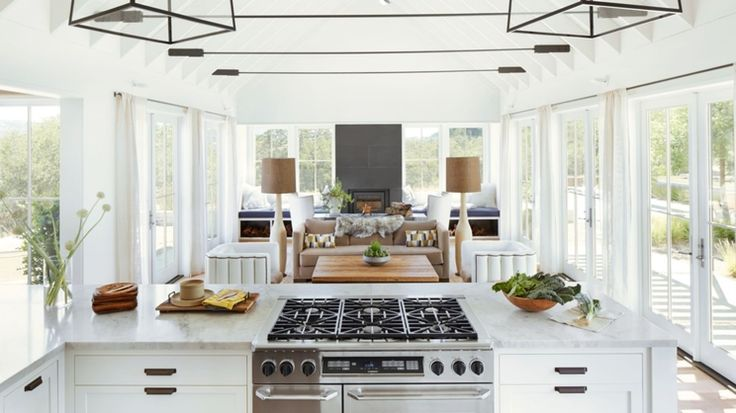 It's ideal if a kitchen has a view of the outdoor area, and has good interaction with other spaces.