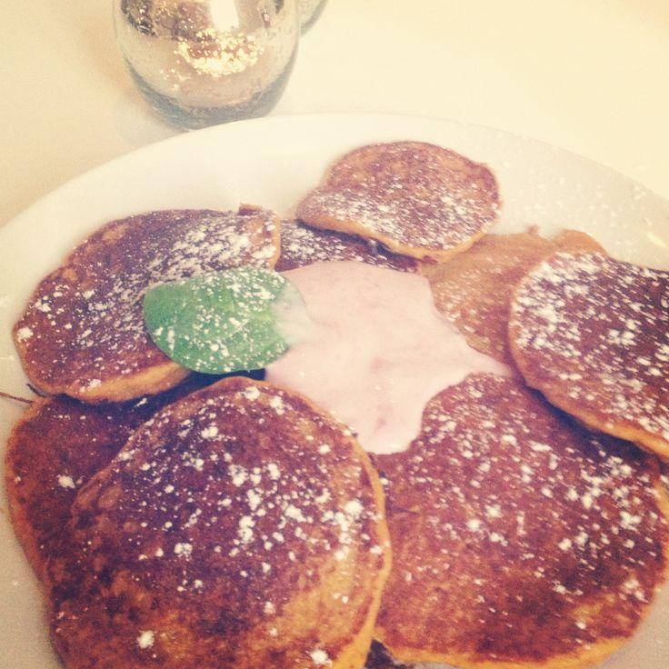 Wholegrain carrot pancakes