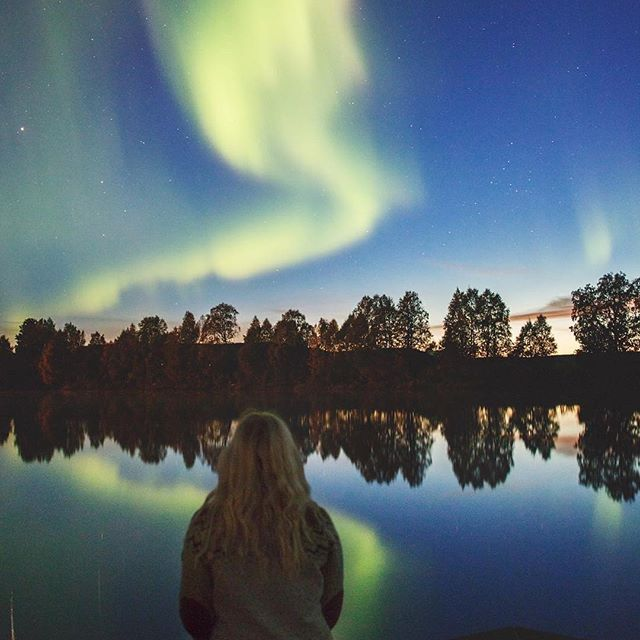 The great gig in the sky👽 a beautiful Övertorneå in Sweden.📸-@warginna