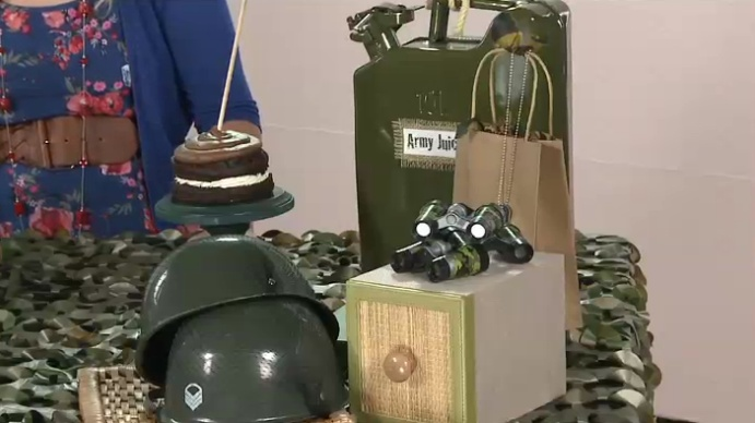Fun army decorations for a army themed birthday party by for Army theme party decoration ideas