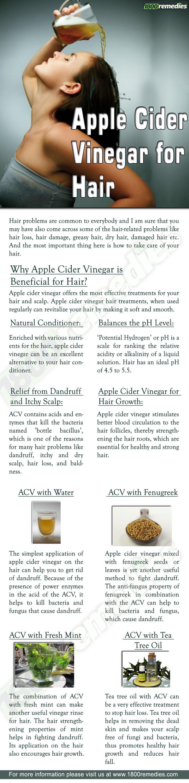 *Apple Cider for hair