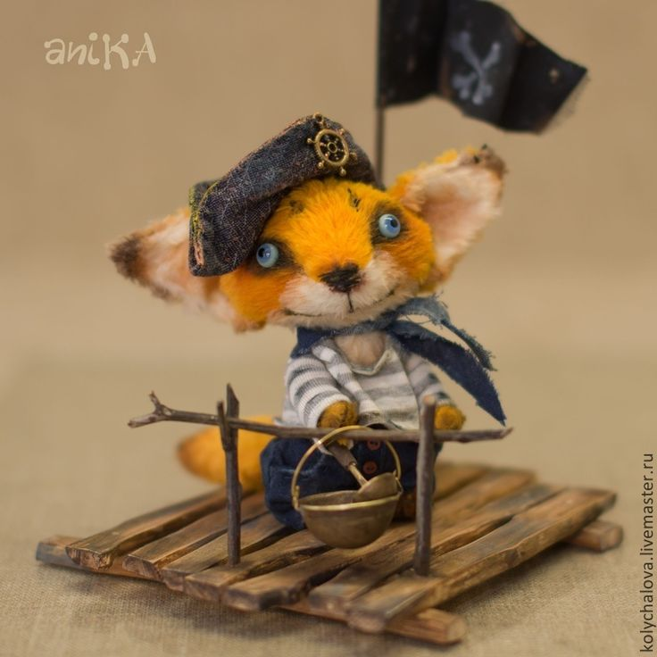 Лушик - оранжевый,пират,лисик,лис,лисенок,лисенок тедди,плот,вискоза,опилки древесные