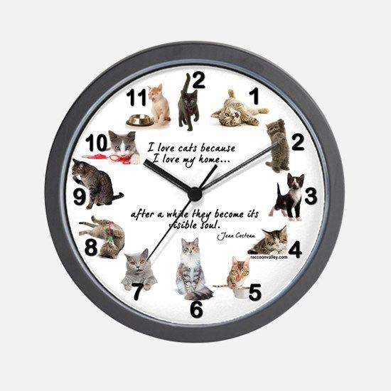 WALL CLOCK - Cat Lovers $37