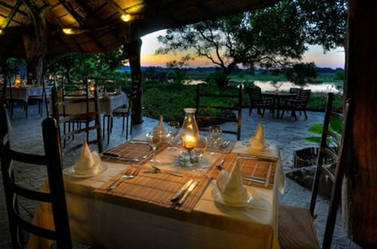 Dinner at Thamalakane River Lodge (Maun, Botswana)